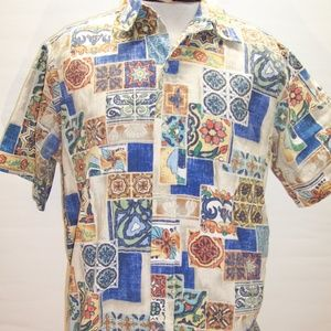 REYN SPOONER Mens Large L Hawaii USA Button-up shi